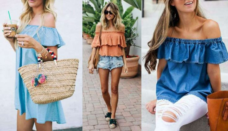 Outfits para la playa Off the Shoulder