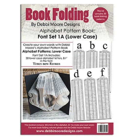 Alphabet Mini Playbill Book Folding Pattern