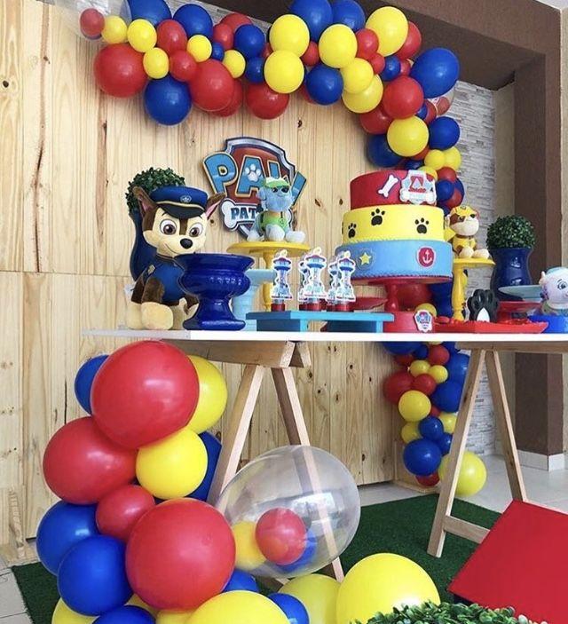 Decoracao Com Baloes Patrulhacanina Festa Baloes Com Imagens