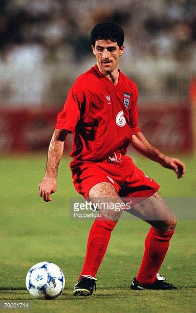 Sport Football 2002 World Cup Qualifier AFC Second Round Group A Jeddah 28th September 2001 Saudi Arabia 2 v Iran 2 Iran's Karim Bagheri
