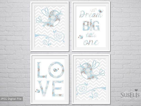 4 Printable Nursery Wall Art Printable Wall Art Instant by Suselis