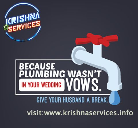 #Plumbing #Repairing #Services In #Pune. Give your man a chance to alter you a dinner rather than the funnels. Get #plumbing administrations from #krishna administrations!  visit:www.krishnaservices.info Contact No:7038854547