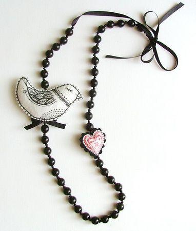 Ilona Hendzsel and Moni Nagy. Hungarian textile necklace.