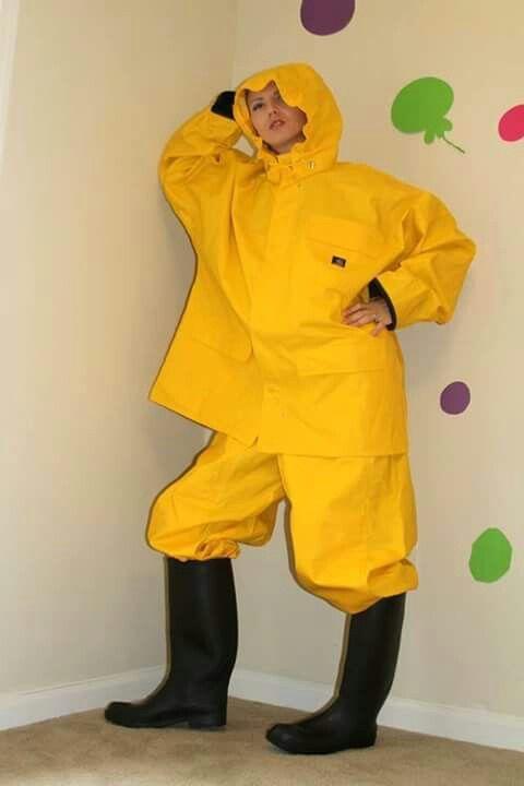 Yellow pvc suit