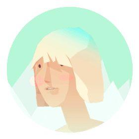 cool head walking anim by @eranhill via Ello (your anti-fb social network - ad-free/pro-privacy ; )