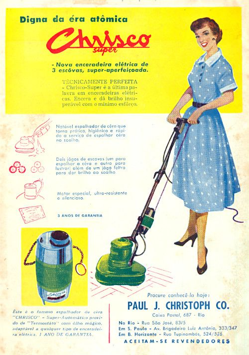 Chrisco Super - Digna da era atômica (1954) Propaganda Antiga