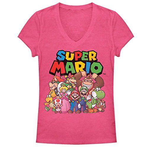 Nintendo Womens Super Mario Bros Group Shot Tee (Large) @ niftywarehouse.com #NiftyWarehouse #Mario #SuperMario #Nintendo #VideoGames #Gaming #MarioBrothers