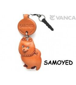 Samoyed Leather Dog Earphone Jack Accessory