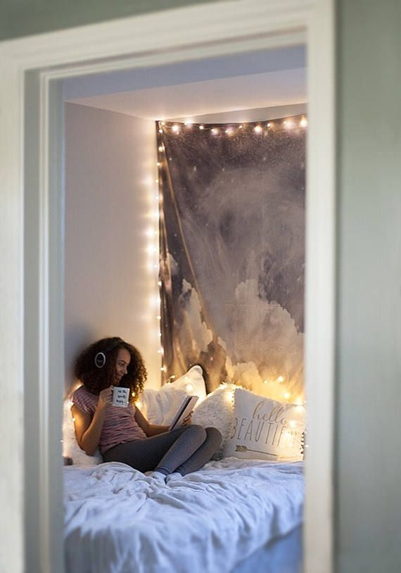 String Lights Indoor Bedroom : SALE Fairy Lights Bedroom Hanging Lights Indoor String My room Pinterest Hanging lights ...