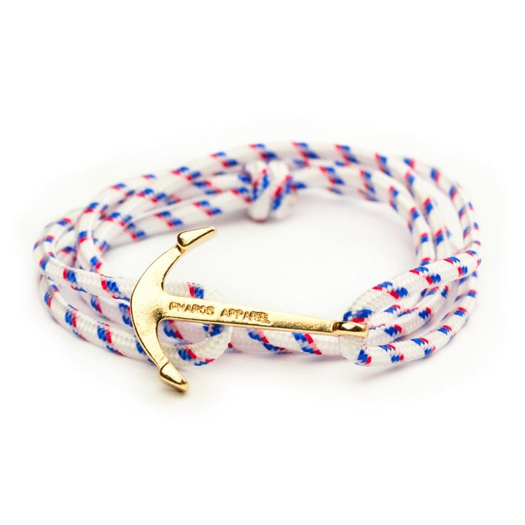 Yachtmaster Gold Anchor Bracelet - Men Women Preppy Pharos Apparel Accessories