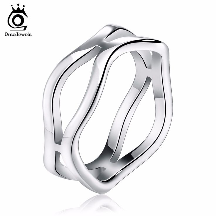 ORSA JEWELS Hot Sale Men Women Irregular Cross 316L Stainless Steel Ring 3 Color Fashion Jewelry for Birthday Gift GTR25