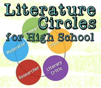 I always had trouble finding materials for literature circles that seemed appropriate for high school students. Most materials that I found were either geared for upper elementary or had roles that were a bit superfluous.So, over the last few years I've been creating and tweaking my own set of materials, and the quality has gotten to a point where I think it's worth sharing.This package includes everything that you need to get literature circles up and running  smoothly: Five roles…