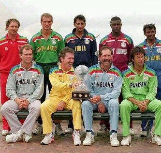 1992 Cricket World Cup photograph of the captains.