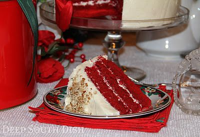 Mama's Red Velvet Cake- this sounds like the same recipe my own Mama used. Have to try this (and the traditional icing recipe included), soon!