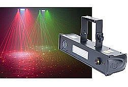 American DJ Fusion FX Bar 5 Lighting Effect Fixture - Tri-Color LED Mooflower, White LED Strobe/Wash and Green Laser in One Fixture -  DMX, Master/Slave and Sound Activated Modes