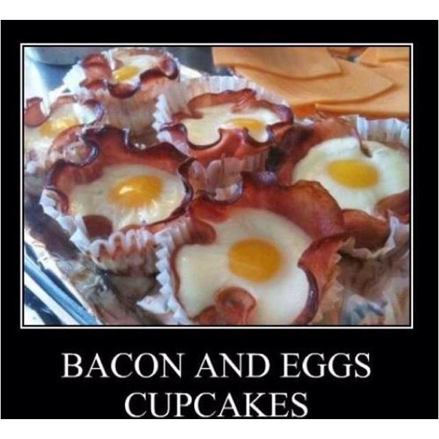 Bacon and eggs cupcake! | Cupcake Addiction! | Pinterest