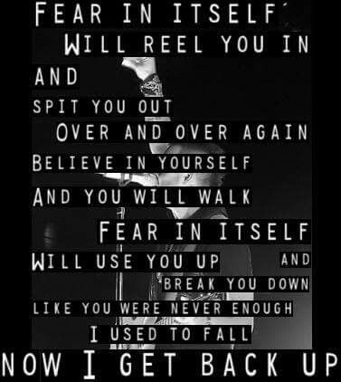Fear lyric by Blue October