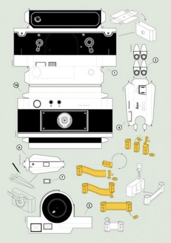 Leica M3 pinhole camera Handmade Cameras Paper Crafts, Paper