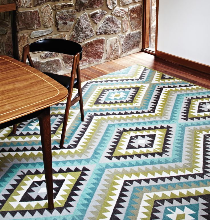 Nomad. This unfolding diamond pattern adds an exciting energy to any room | See more at www.armadillo-co.com