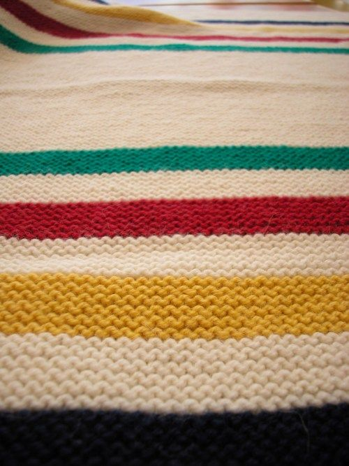 Hudsons Bay Blanket I Would Knit This Pinterest Bays