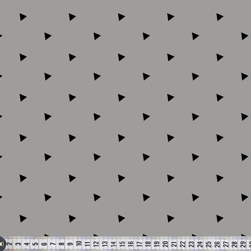 Økologisk isolistof Triangles, grey. PaaPii stof. Køb her
