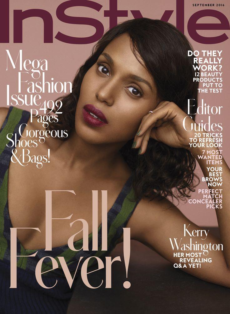 Kerry Washington Covers InStyle Magazine Australia April