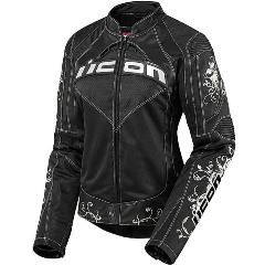Motorcycle Jackets - Icon Women Contra Speed Queen Armored Textile Motorcycle Jacket $270