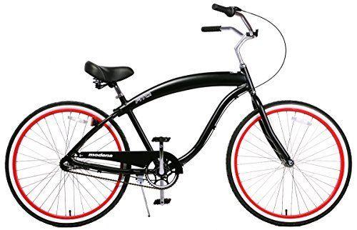 Fito Men's Modena EX Aluminum Alloy 3-Speed 26-Inch Wheel Beach Cruiser Bicycle, Matte Black/Red http://coolbike.us/product/fito-mens-modena-ex-aluminum-alloy-3-speed-26-inch-wheel-beach-cruiser-bicycle-matte-blackred/