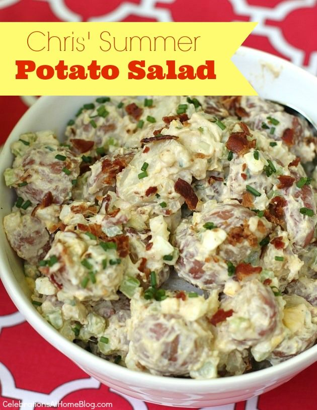 This Summer Potato Salad looks so mouthwatering! This would be perfect for a summer barb-b-que