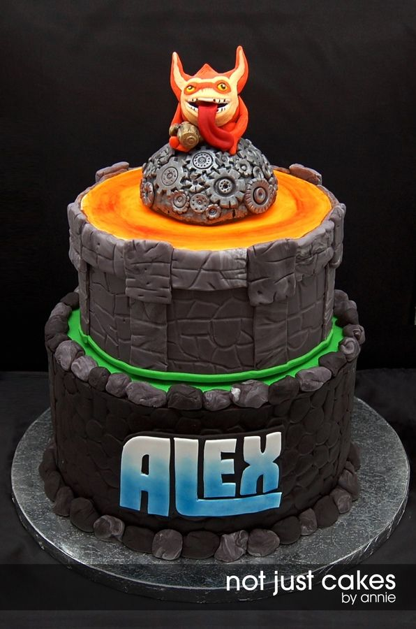 Skylanders cake featuring Trigger Happy | not just cakes by annie