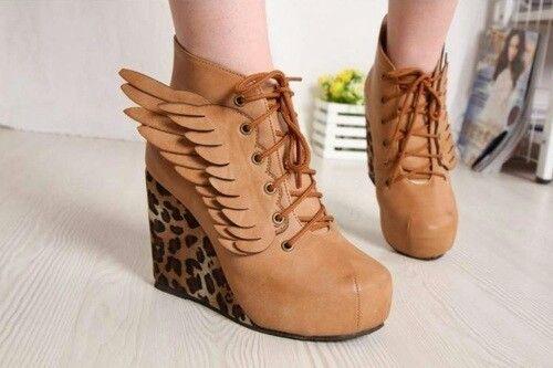 Shoes Brown Zapatos Café Fashion Moda Wings Alas Wear It