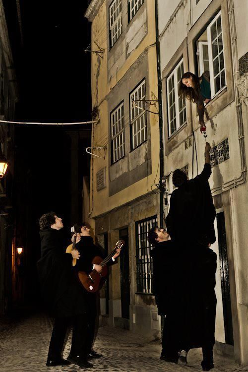 Students of Coimbra's University serenading. (#Fado at Coimbra), #Portugal www.enjoyportugal.eu