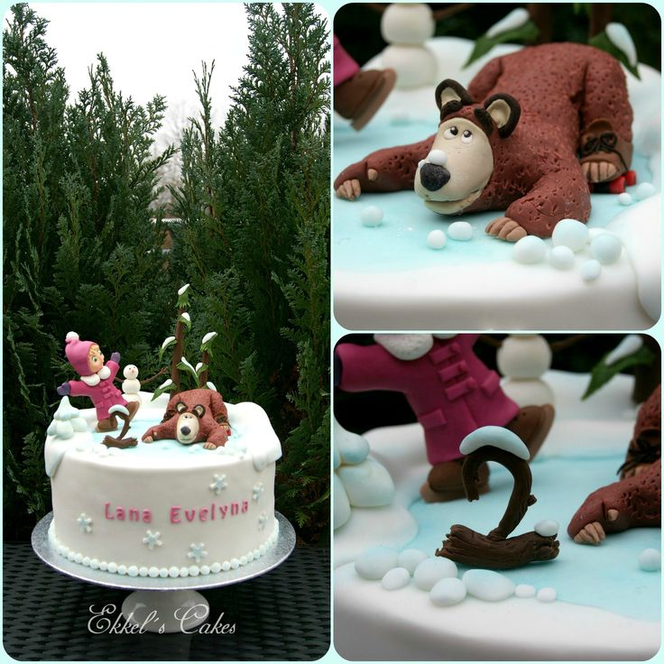 Masha and the BEAR Winter  Cake