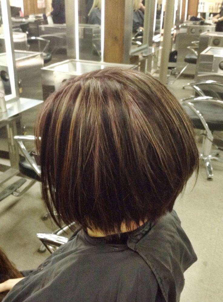 1000 Ideas About Plum Hair Highlights On Pinterest