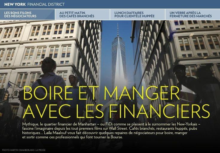 Boire et manger avec les financiers - La Presse+