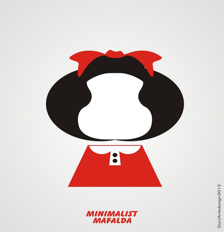 Arte Minimalista Mafalda C R E A T I V E Pinterest