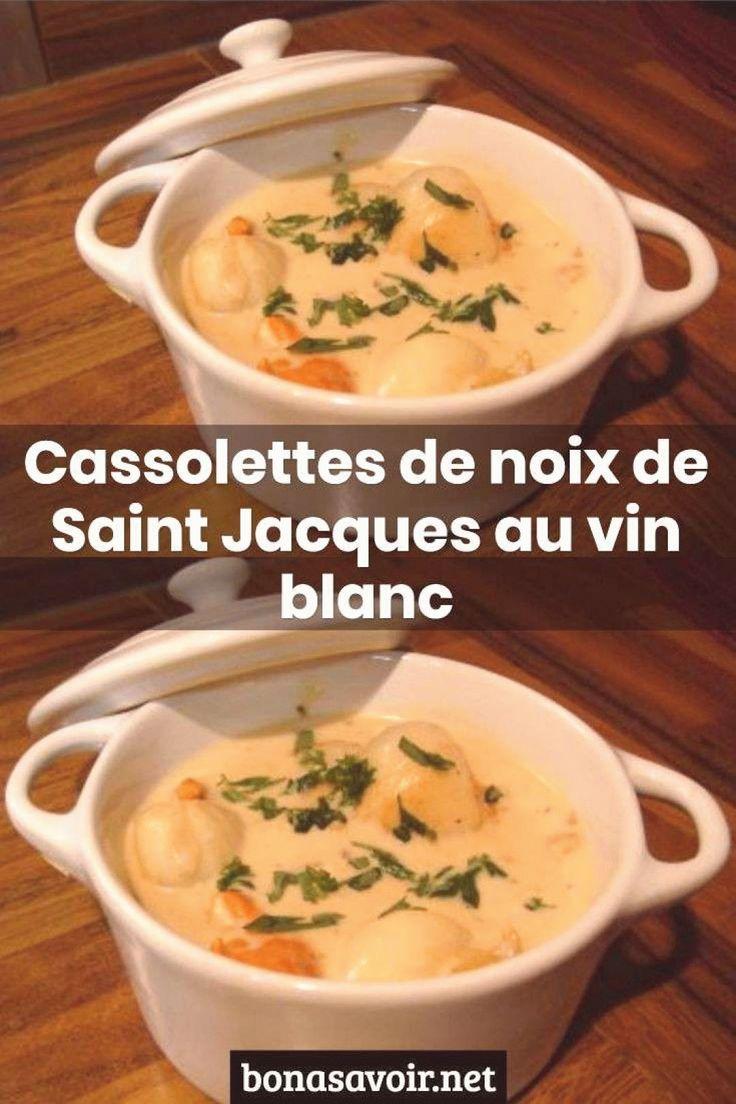 Cassolettes de noix de Saint Jacques au vin blanc in 2020 ...
