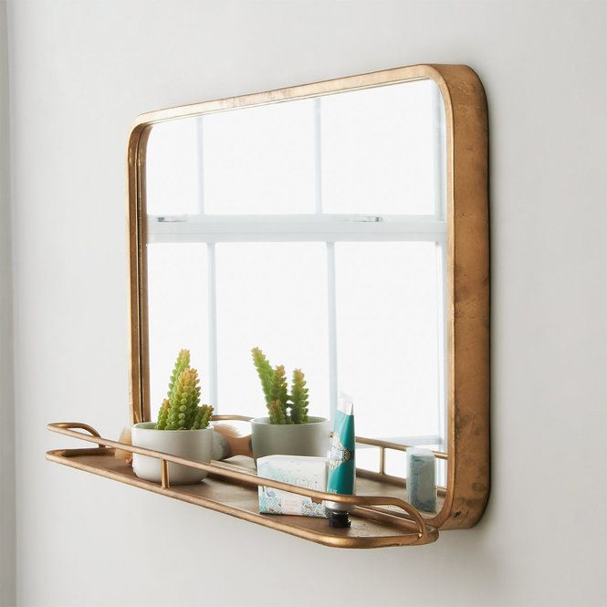 Metal Mirror with Shelf - Large | Mirror with shelf, Metal ...