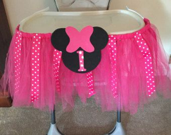 Minnie Mouse High Chair Tutu Highchair Tutu by RoseyChicBowtique