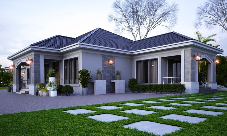 Exterior elevations of independent houses 2019 Bungalow