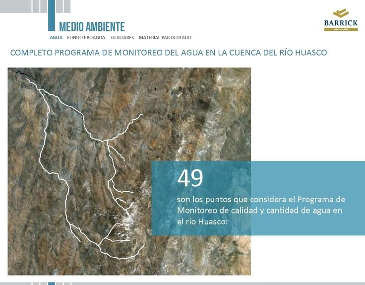 Programa de monitoreo de aguas en el río Huasco - Infografía completa en el sitio de Pascua-Lama http://pascua-lama.com