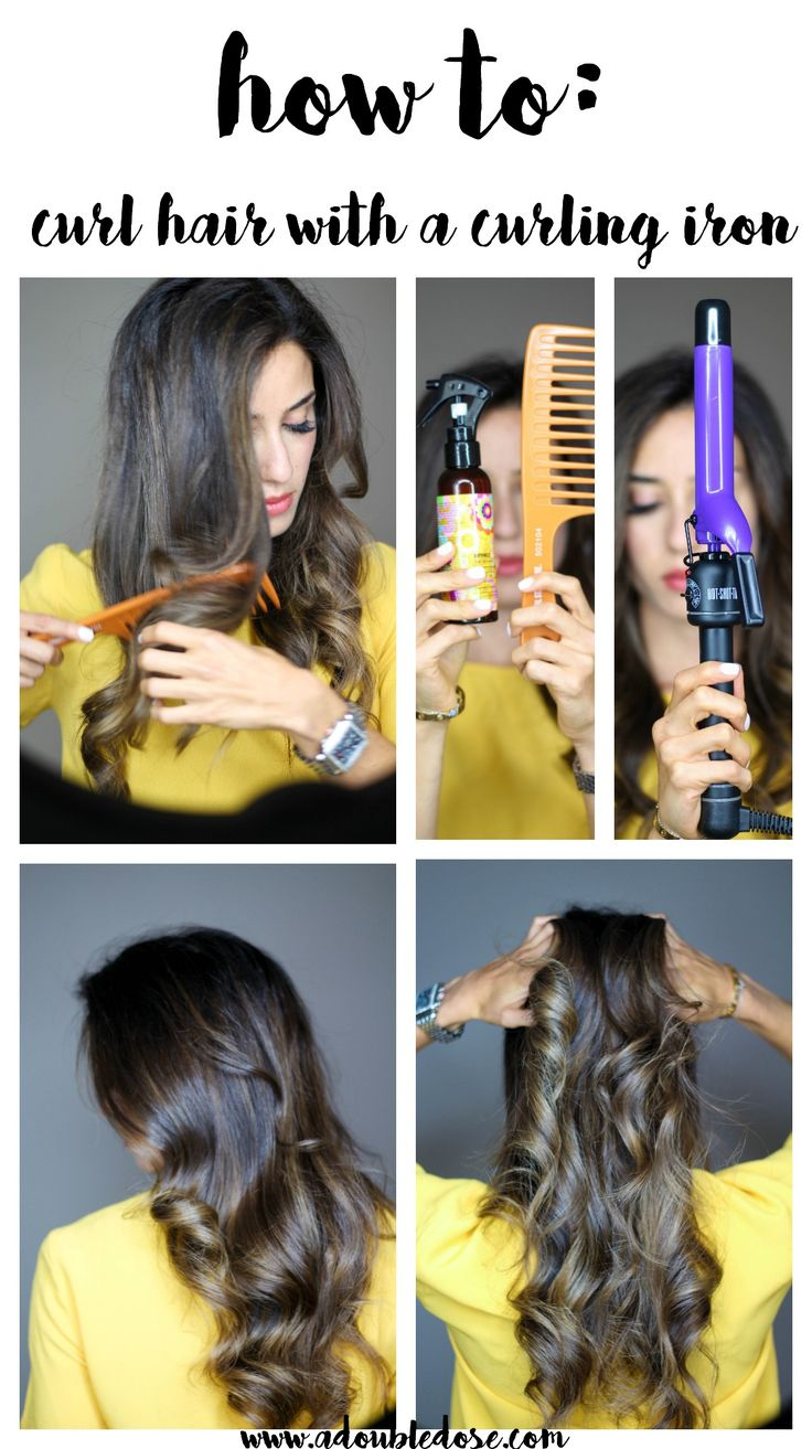 How To Curl Your Hair With A Curling Iron   adoubledose.com