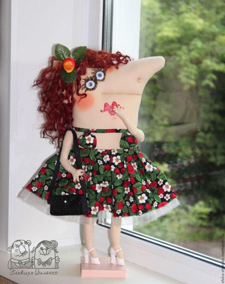 Funny fabric doll / Купить А я вся такая растакая - комбинированный, кокетка, текстильная кукла, авторская кукла