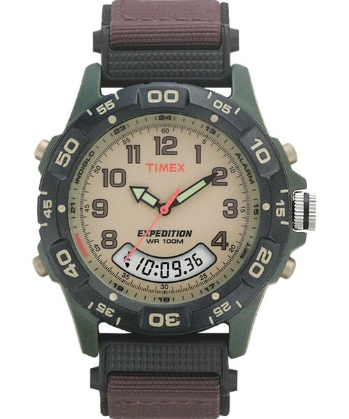 Timex Men's Expedition Analog Digital Watch T45181 Brown Nylon Strap