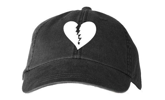 DAD Hat with BROKEN HEART emoji cute graphic by BrooklynVertical