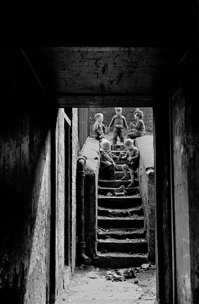 Children at play in a Maryhill tenement 1971