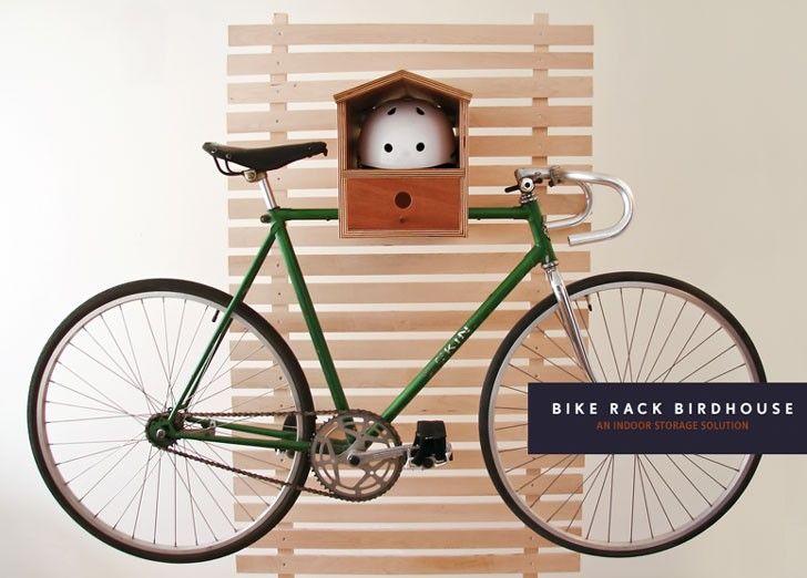 Dimini Birdhouse Bike Rack Holds Your Bike