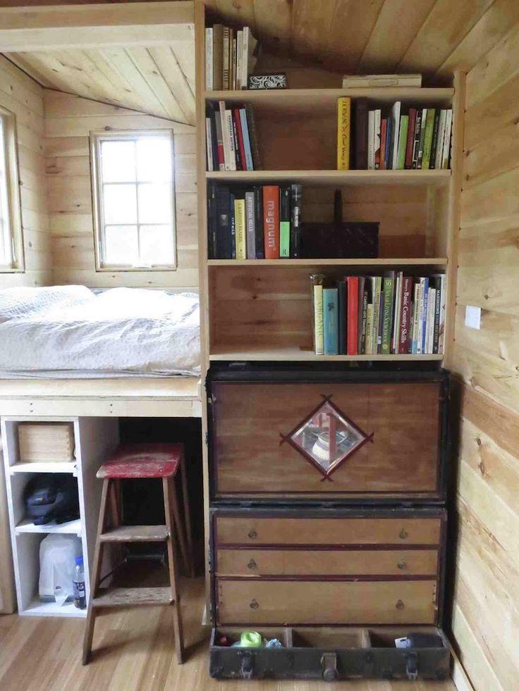Rowan's Tiny House: An owner-built tiny house in Poughkeepsie, New York. | * Main floor bedroom; no loft. Needs full size refrigerator.