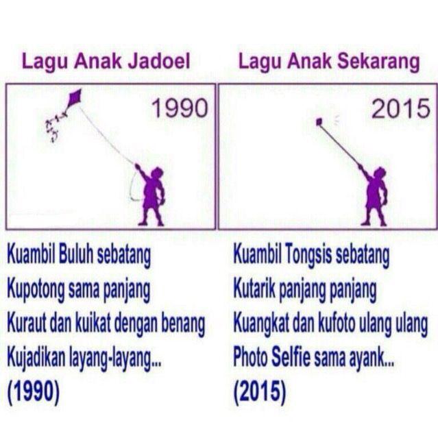 lagu anak 1990 vs 2015