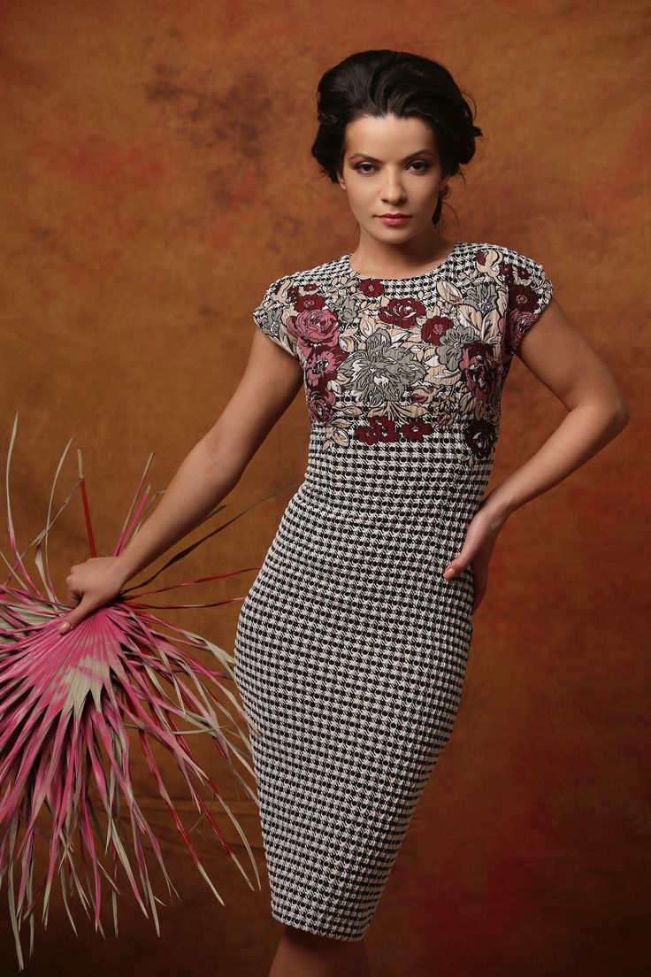 FASCINATION dress Fall 17 | YOKKO #dress #flowers #white #black #beauty #fashion #style #fall17 #yokko